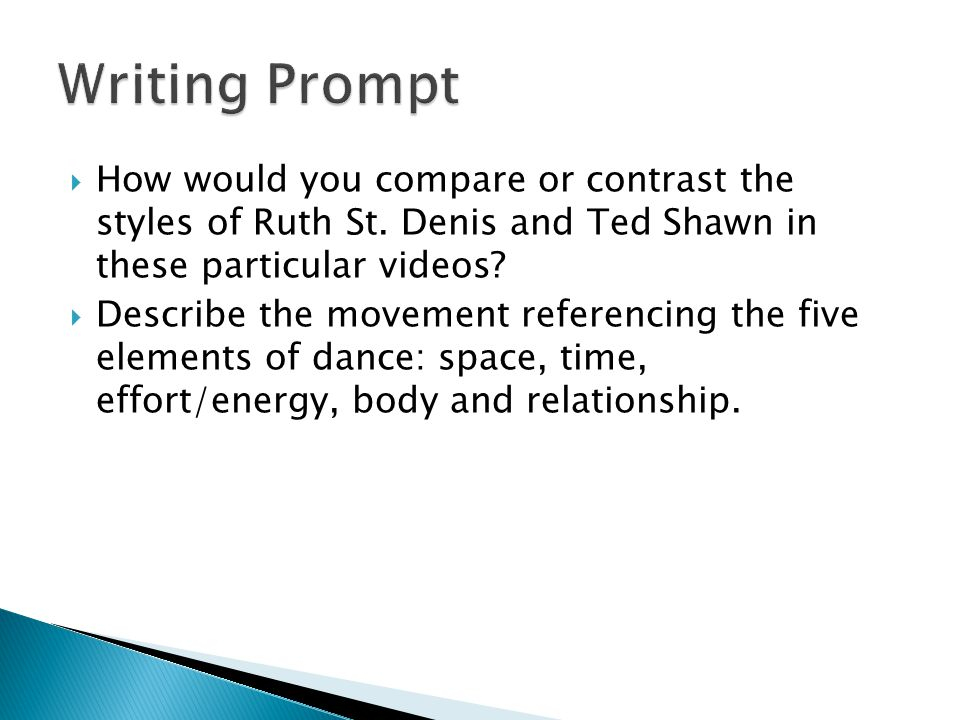  How would you compare or contrast the styles of Ruth St.