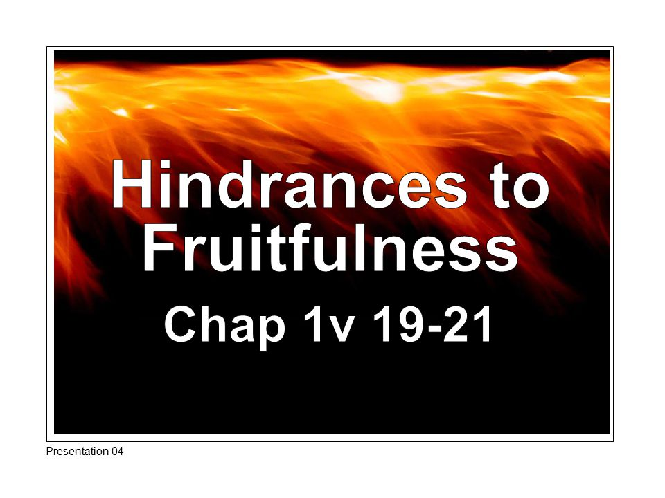 Conclusion James has identified three areas of defilement to be rooted out of the Christians life.
