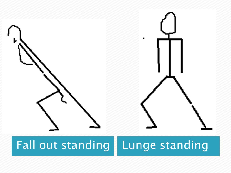Fall out standingLunge standing