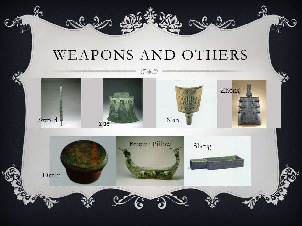 WEAPONS AND OTHERS Sword Yue Nao Zhong Drum Bronze Pillow Sheng
