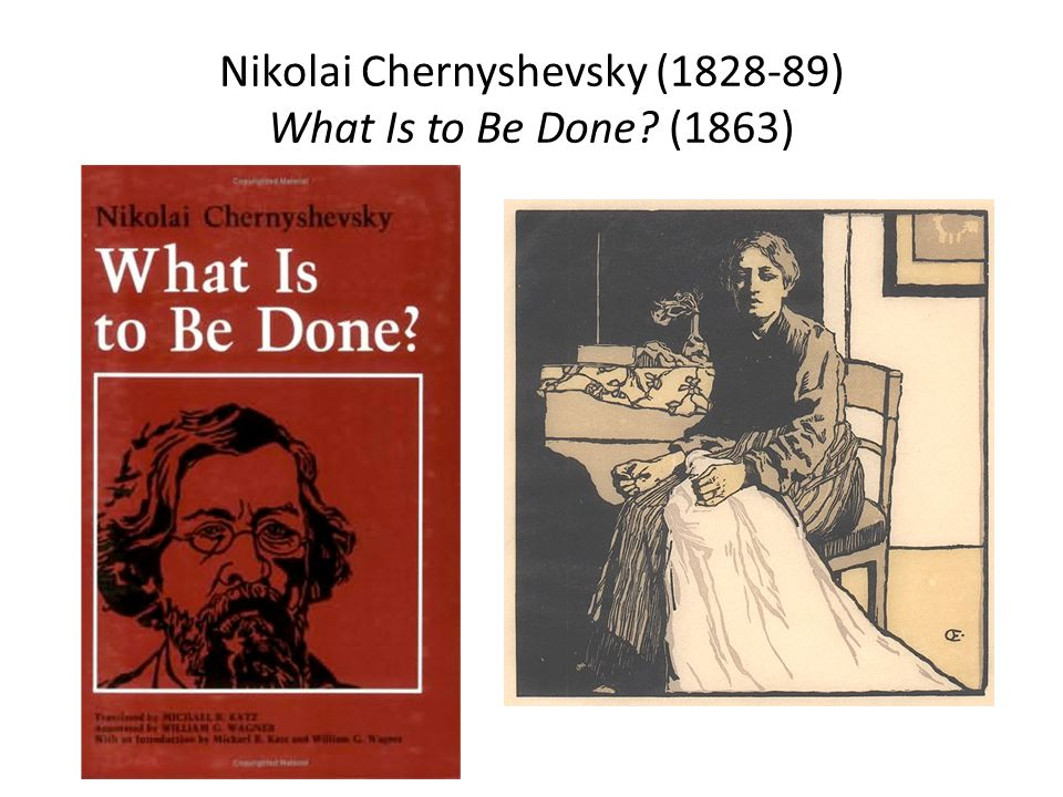 Nikolai Chernyshevsky (1828-89) What Is to Be Done? (1863)