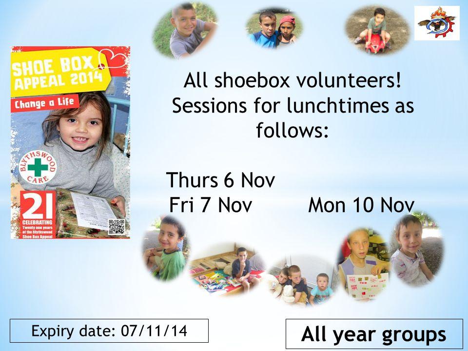 All shoebox volunteers.