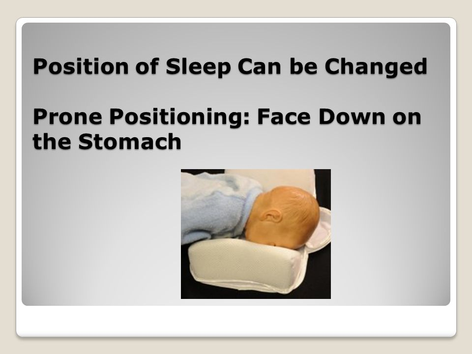 Position of Sleep Can be Changed Prone Positioning: Face Down on the Stomach