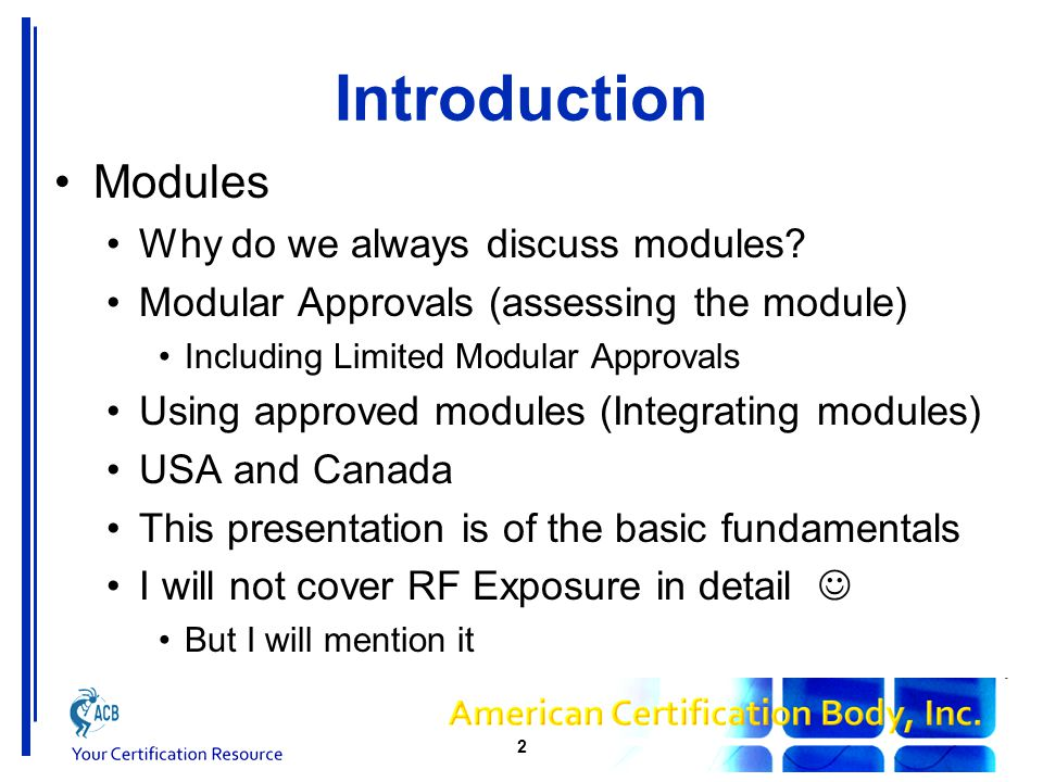 Introduction Modules Why do we always discuss modules.