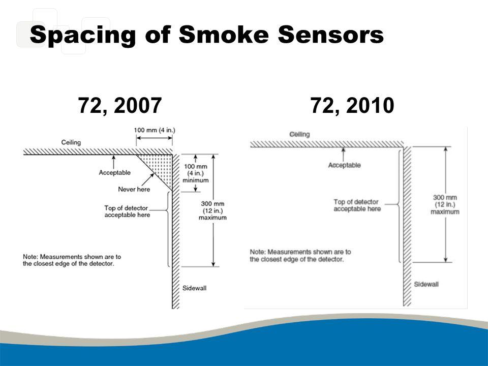 Spacing of Smoke Sensors 72, 200772, 2010