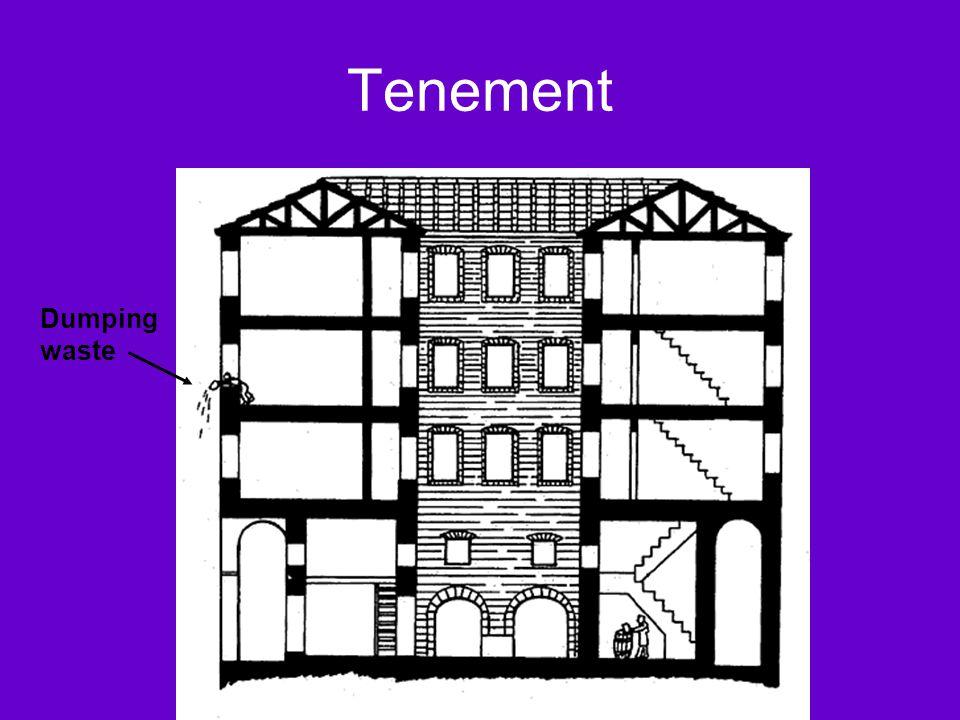 Tenement Dumping waste