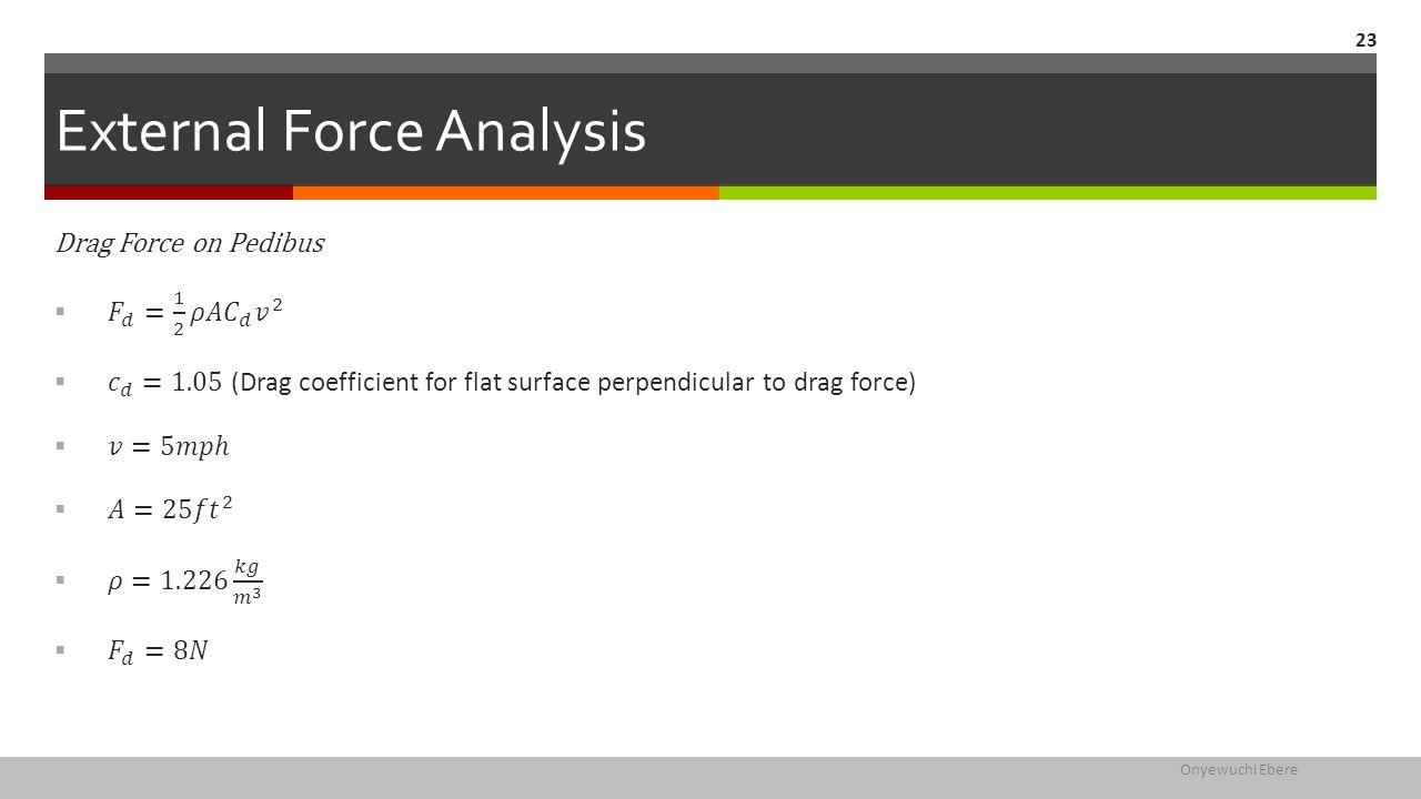 External Force Analysis Onyewuchi Ebere 23