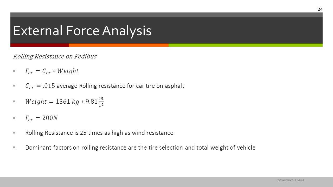 External Force Analysis Onyewuchi Ebere 24