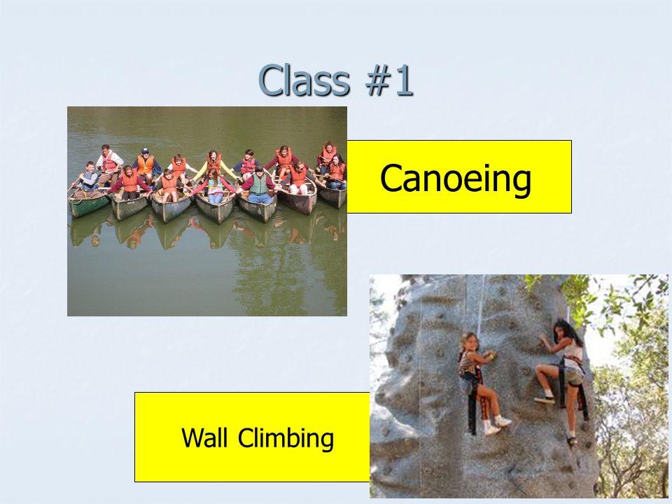 Class #1 Canoeing Wall Climbing
