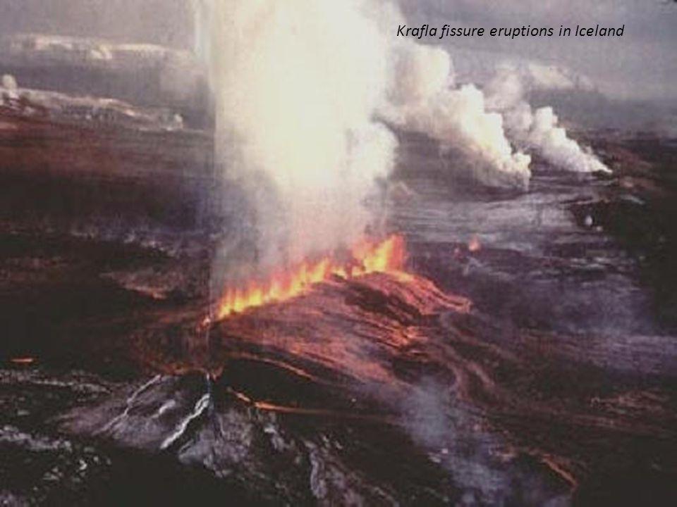 Krafla fissure eruptions in Iceland