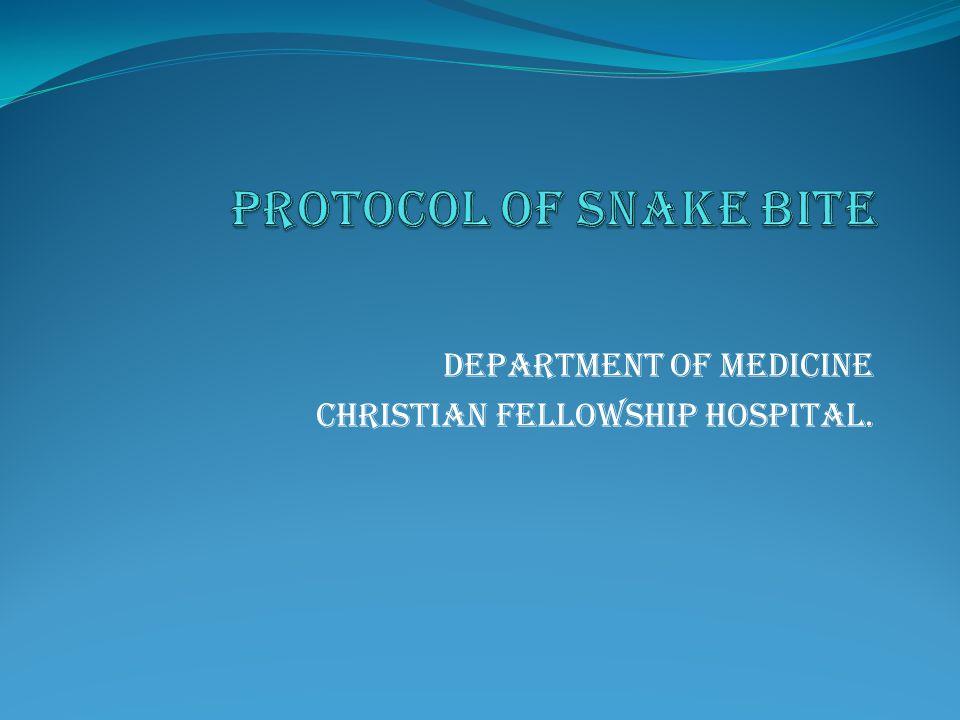 Department of medicine Christian fellowship hospital.