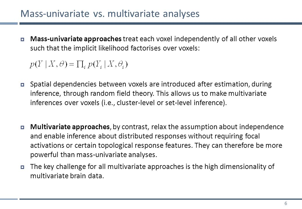 37  Classification is the most common type of multivariate fMRI analysis to date.