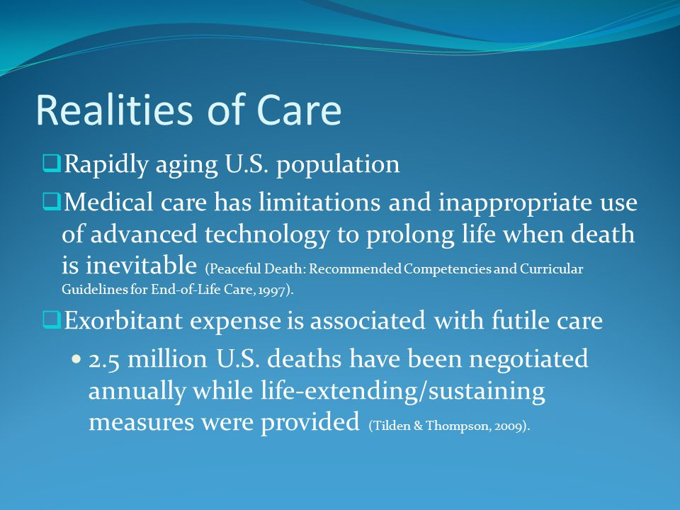 Realities of Care  Rapidly aging U.S.