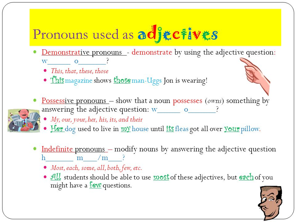 Other words used as adjectives We already know that n_______ can be transformed into adjectives …but did you know that n______ can be used as adjectives without being transformed.