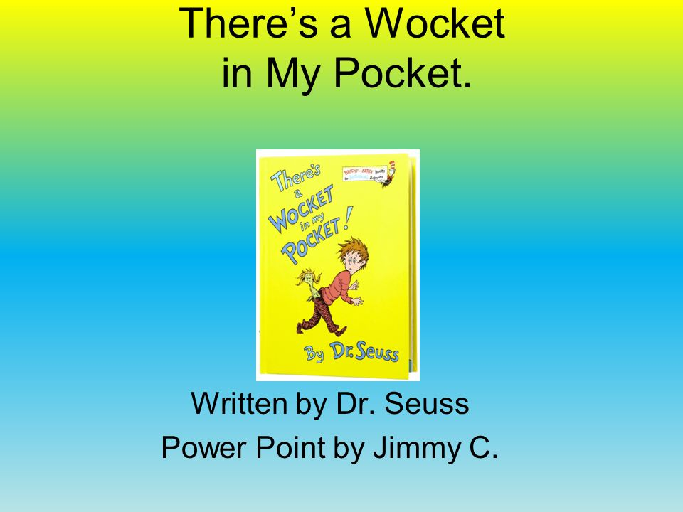 I Can Read With My Eyes Shut Written by Dr. Seuss Power Point by Grace H.