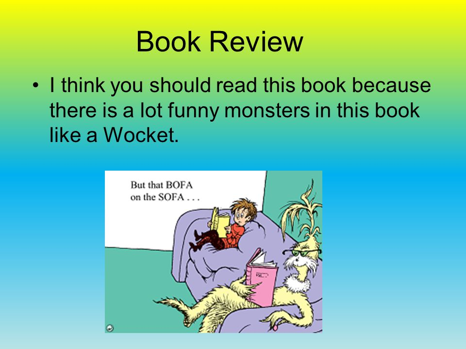 Book Review I think you should read this book because it tells you can do a lot of things with your eyes open.
