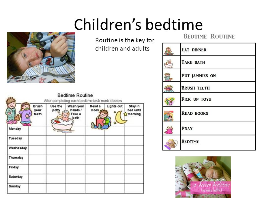 Children's bedtime Routine is the key for children and adults