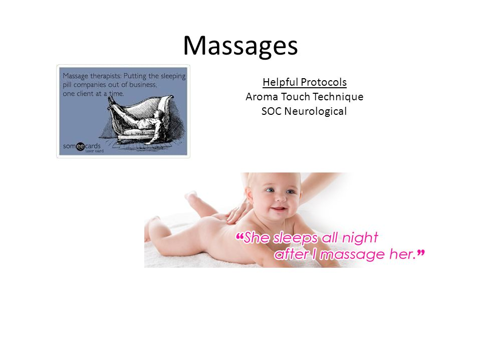 Massages Helpful Protocols Aroma Touch Technique SOC Neurological