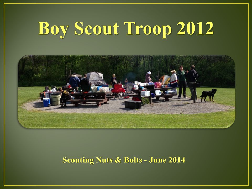 Boy Scout Troop 2012 Scouting Nuts & Bolts - June 2014