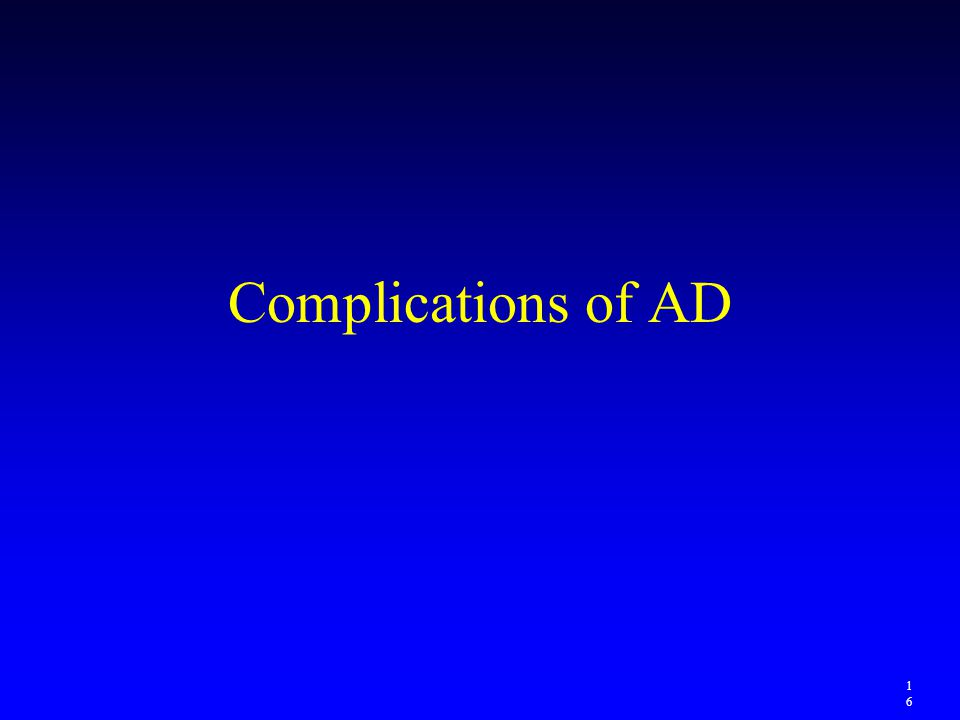 Complications of AD 1616