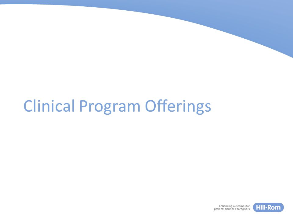 Clinical Program Offerings