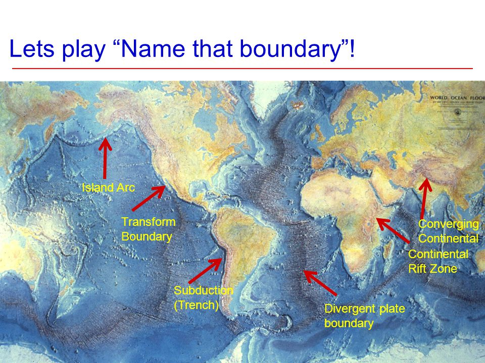 Lets play Name that boundary .