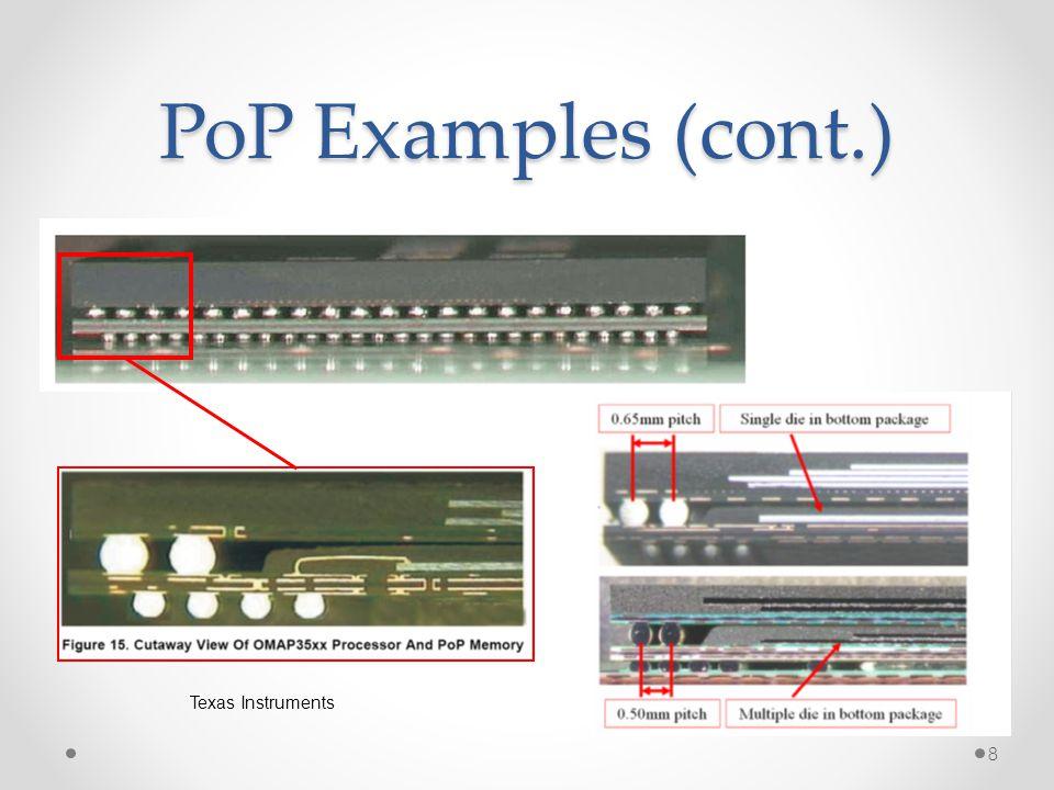 PoP Examples (cont.) 8 Texas Instruments