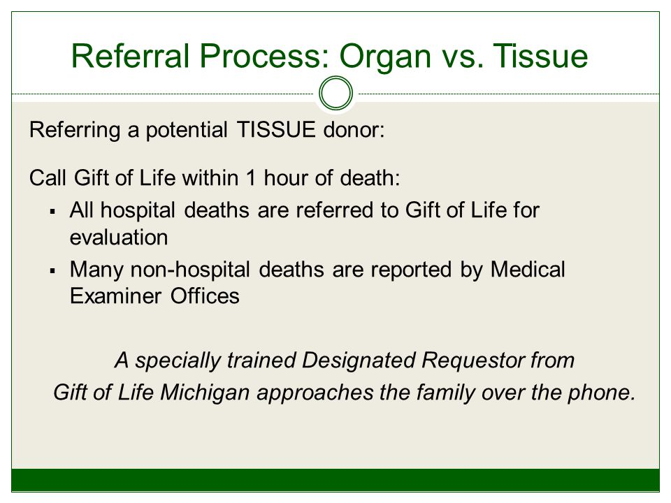 Referral Process: Organ vs.