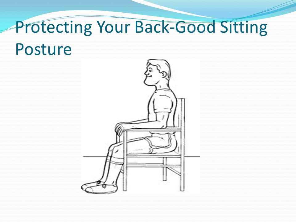 Protecting Your Back-Good Sitting Posture