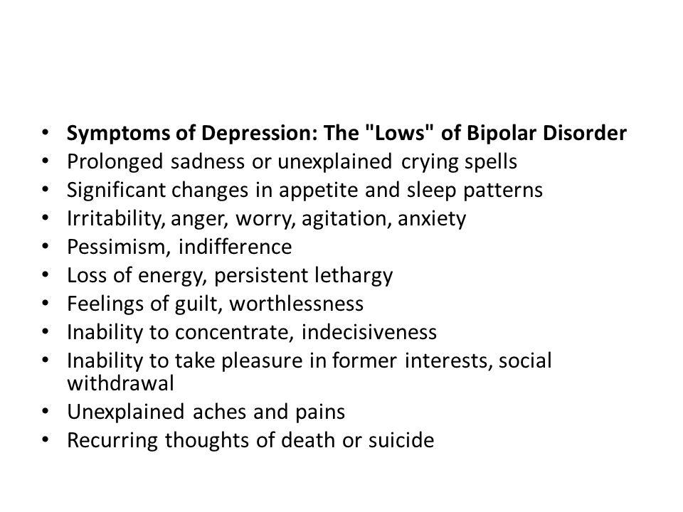 Symptoms of Depression: The