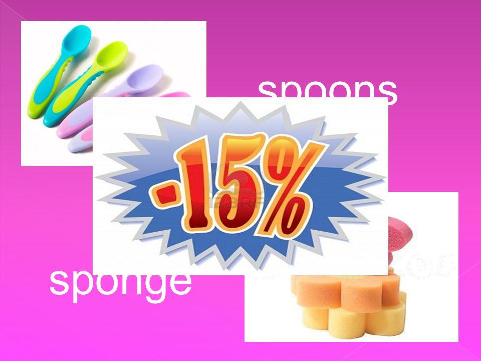 sponge spoons
