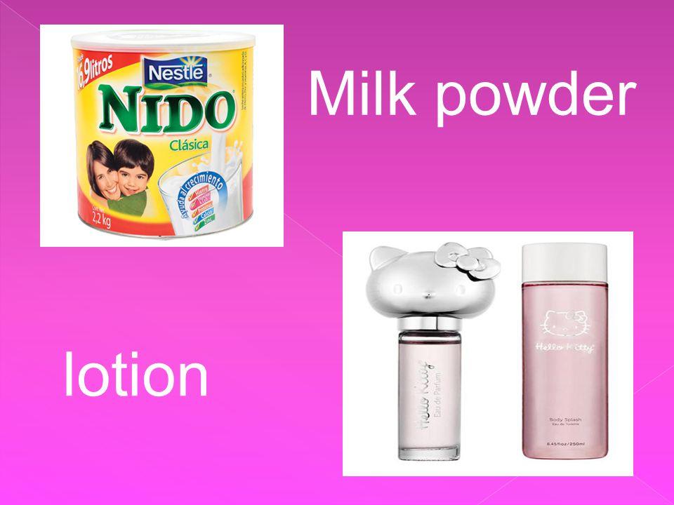 Milk powder lotion