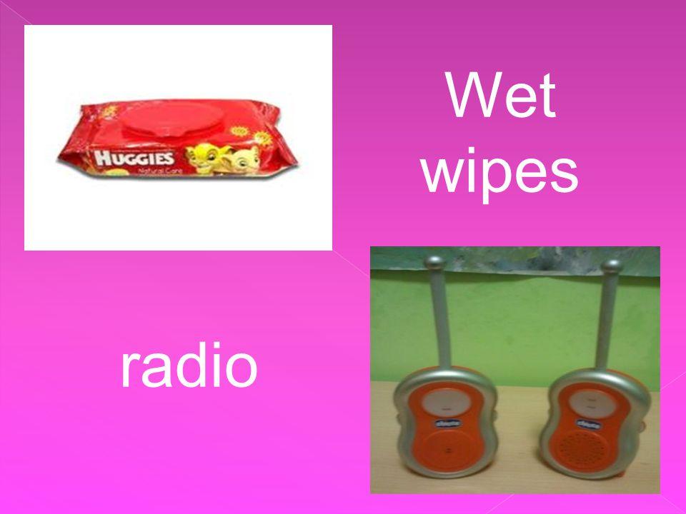 Wet wipes radio