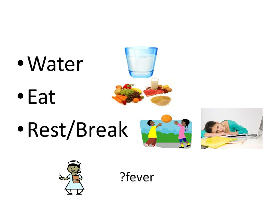 Water Eat Rest/Break ?fever
