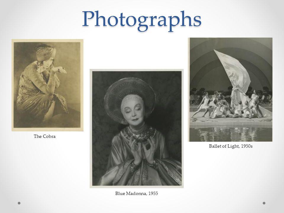 Photographs The Cobra Blue Madonna, 1955 Ballet of Light, 1950s