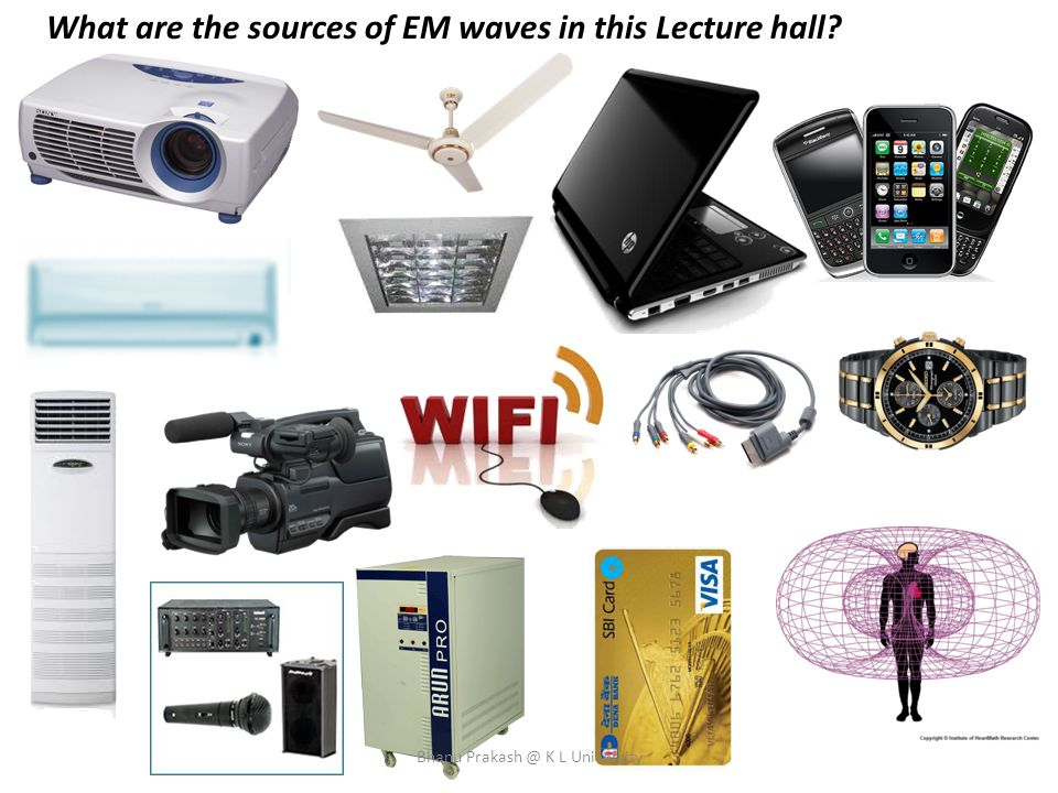 What are the sources of EM waves in this Lecture hall? Bhanu Prakash @ K L University