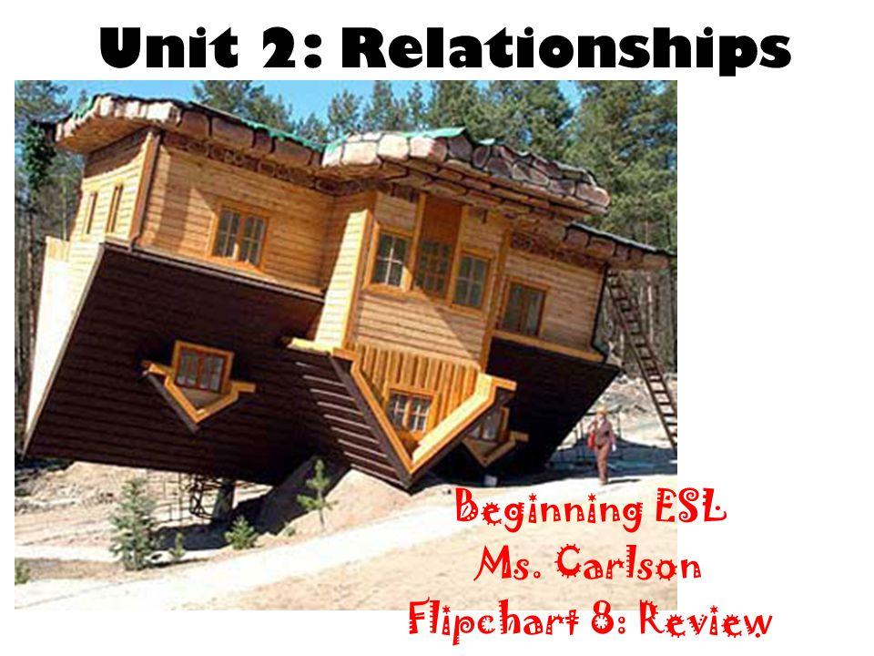 Unit 2: Relationships Beginning ESL Ms. Carlson Flipchart 8: Review