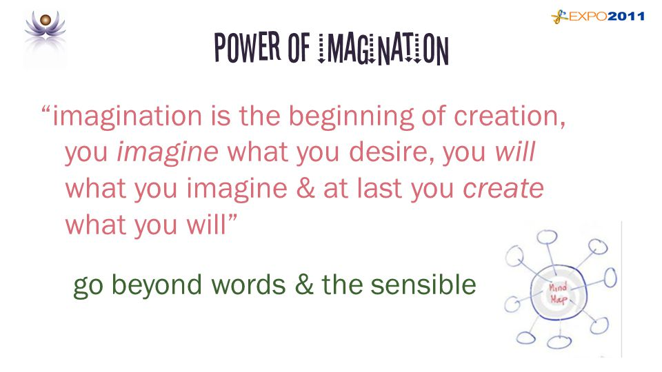 Power of imagination imagination is the beginning of creation, you imagine what you desire, you will what you imagine & at last you create what you will go beyond words & the sensible