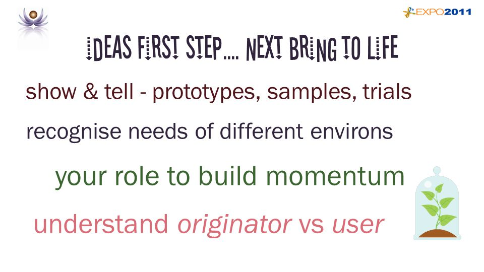 ideas first step....