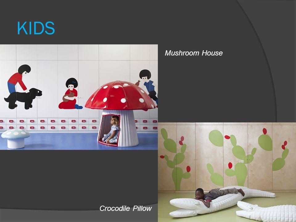 KIDS Mushroom House Crocodile Pillow