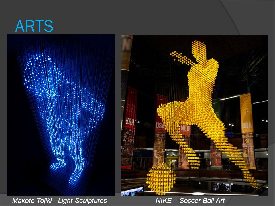 ARTS Makoto Tojiki - Light SculpturesNIKE – Soccer Ball Art