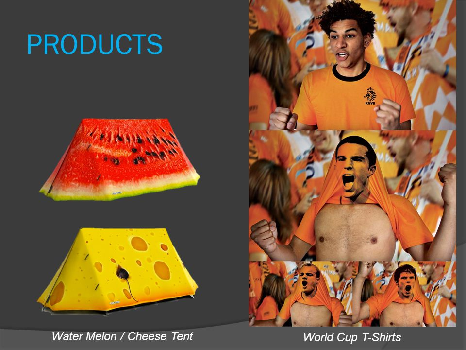 PRODUCTS World Cup T-Shirts Water Melon / Cheese Tent