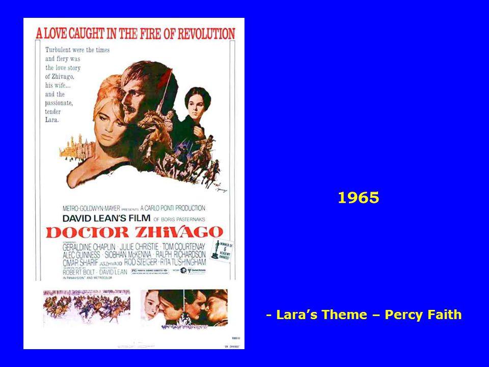 1965 - Lara's Theme – Percy Faith