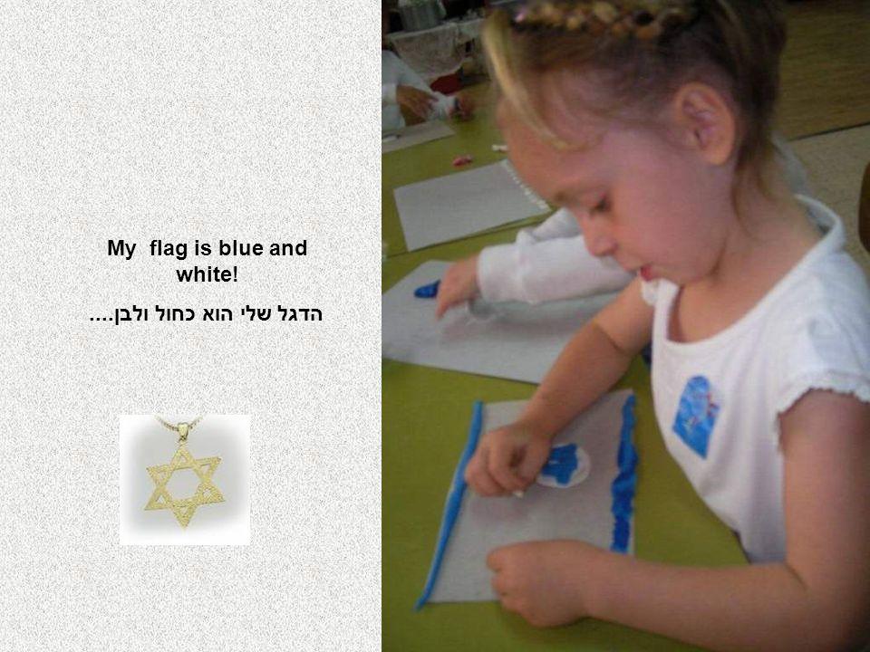 My flag is blue and white! הדגל שלי הוא כחול ולבן....