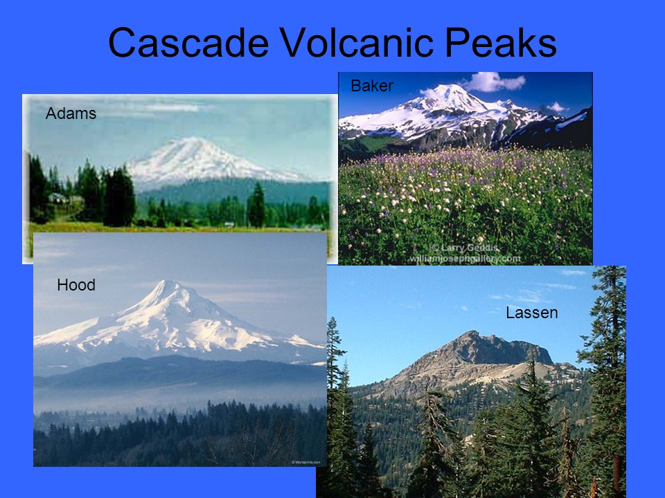 Cascade Volcanic Peaks Adams Lassen Hood Baker