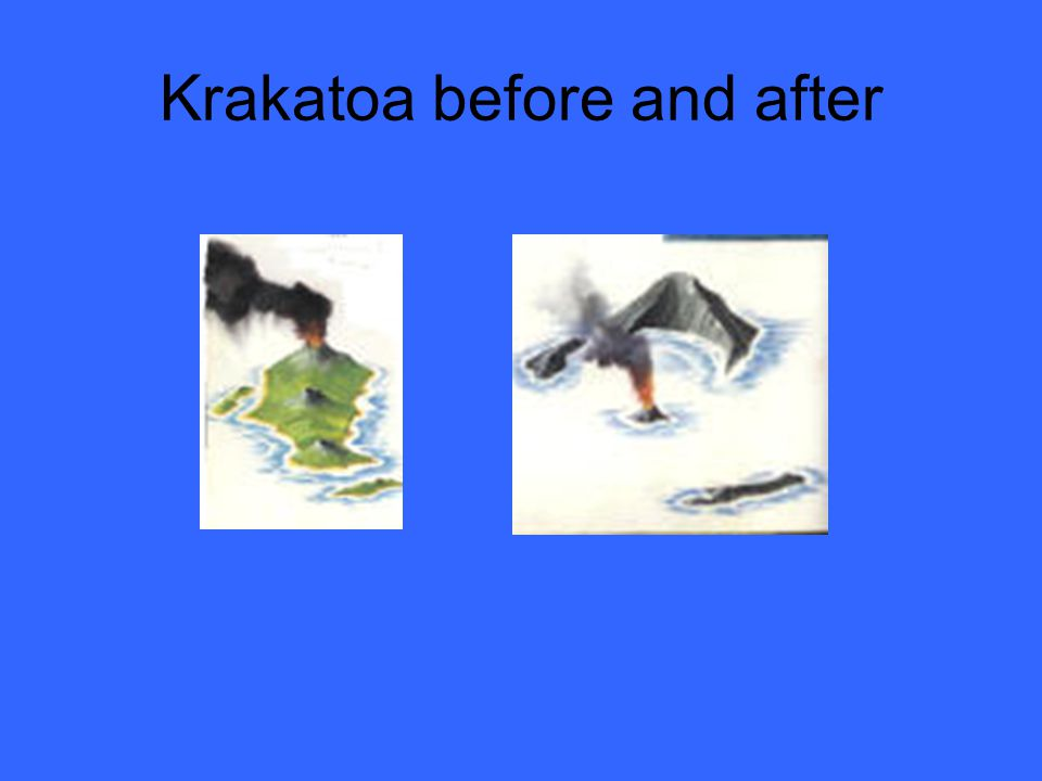 Krakatoa before and after