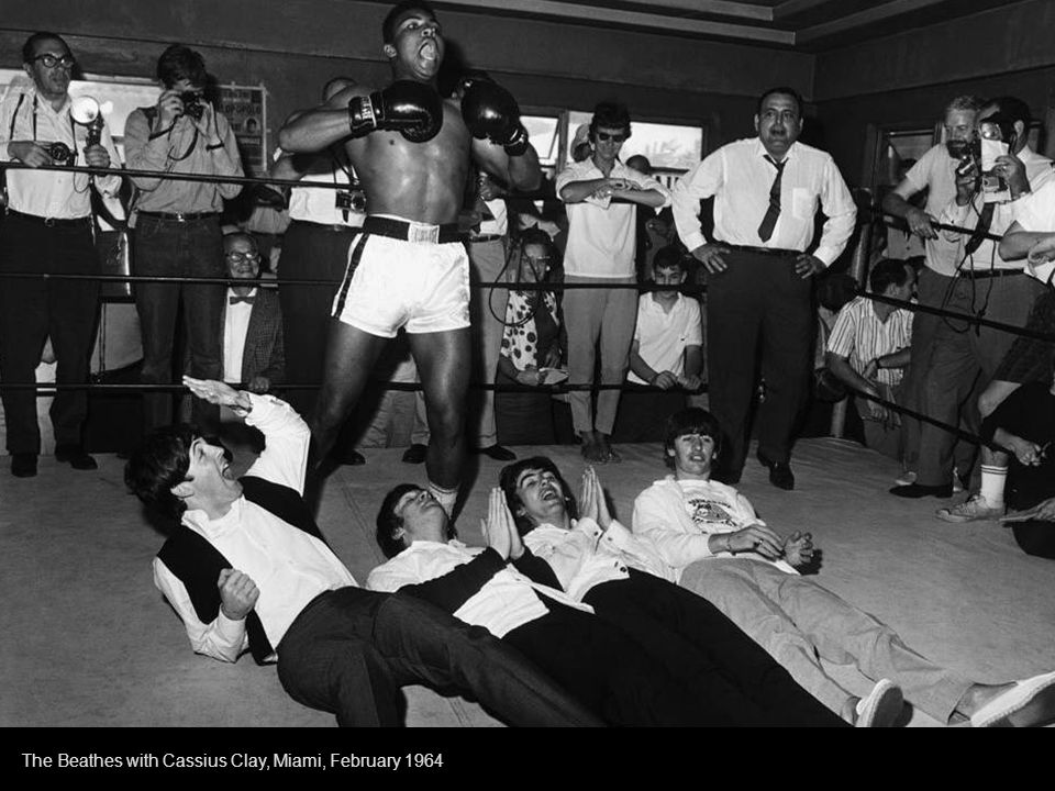 The Beatles and Cassius Clay Miami 1964
