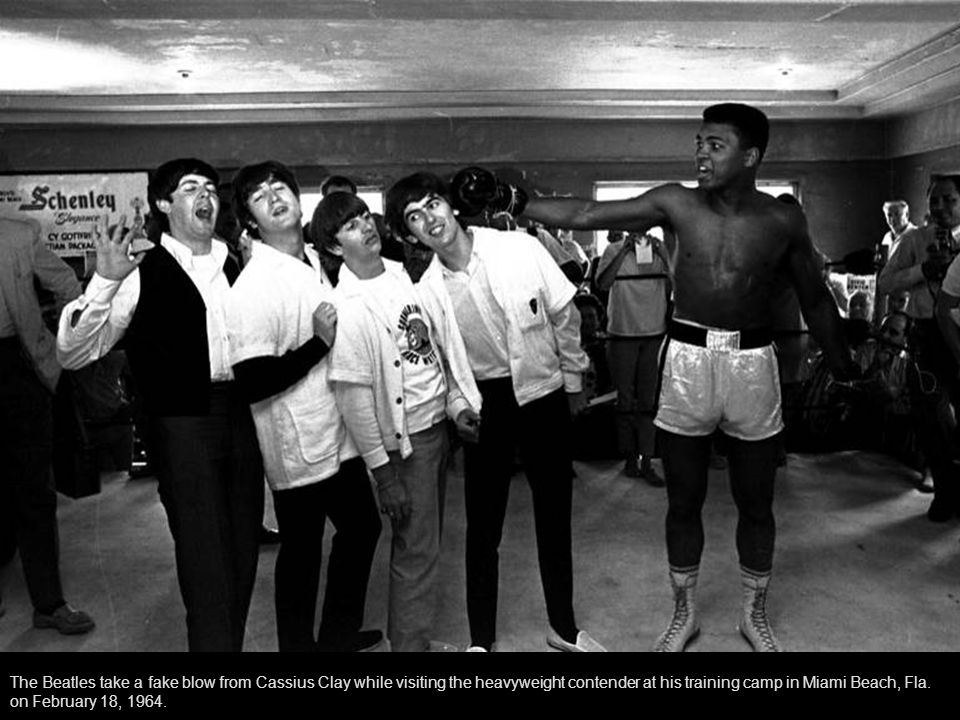 The Beathes with Cassius Clay, Miami, February 1964