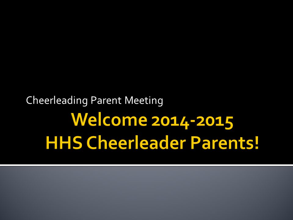 Cheerleading Parent Meeting