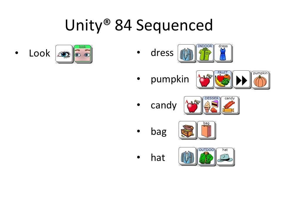 Unity® 84 Sequenced Look dress pumpkin candy bag hat